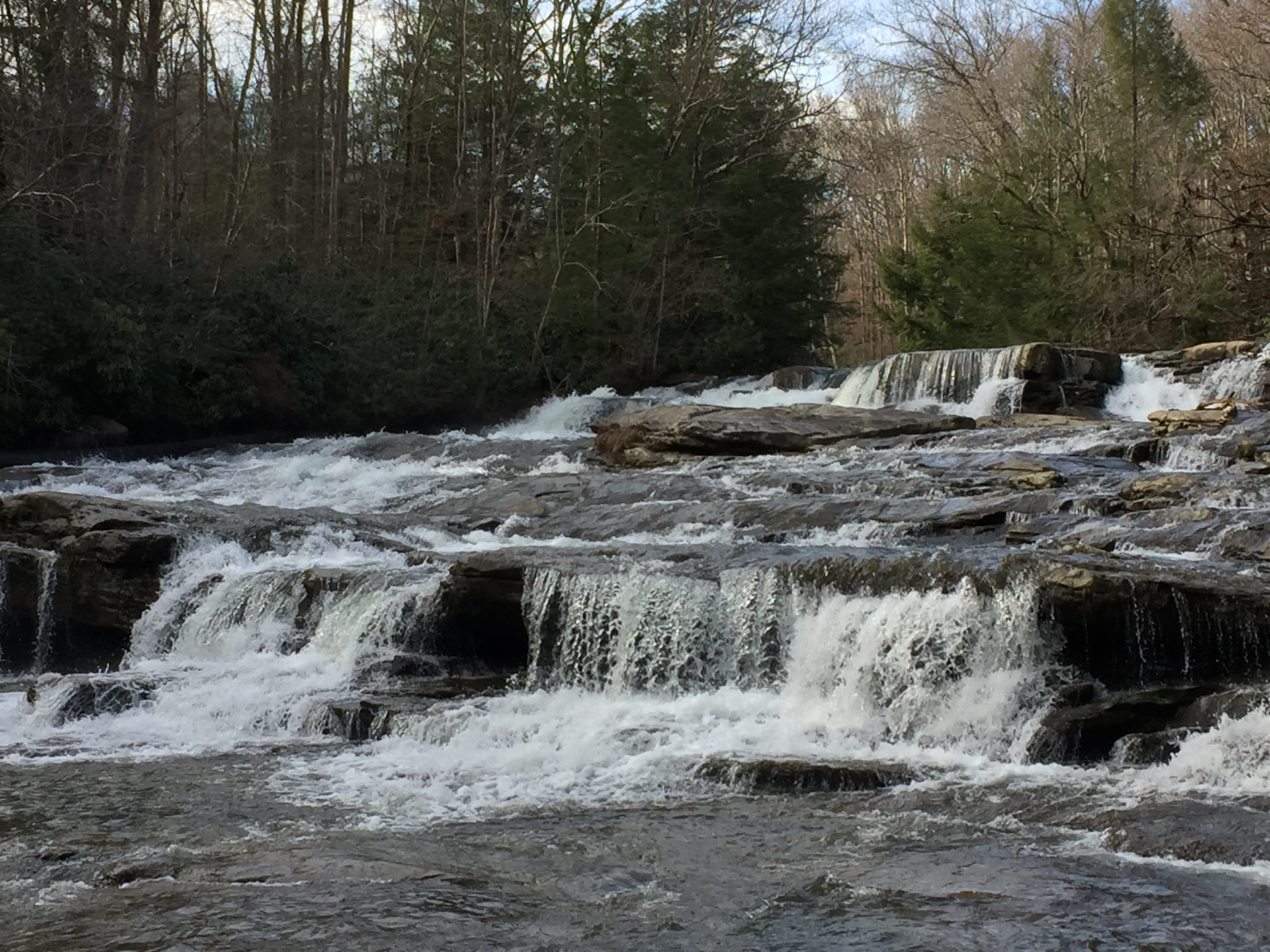 Cascades along Meadow Run Trail